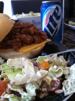 Football food: Pulled Pork and Coleslaw
