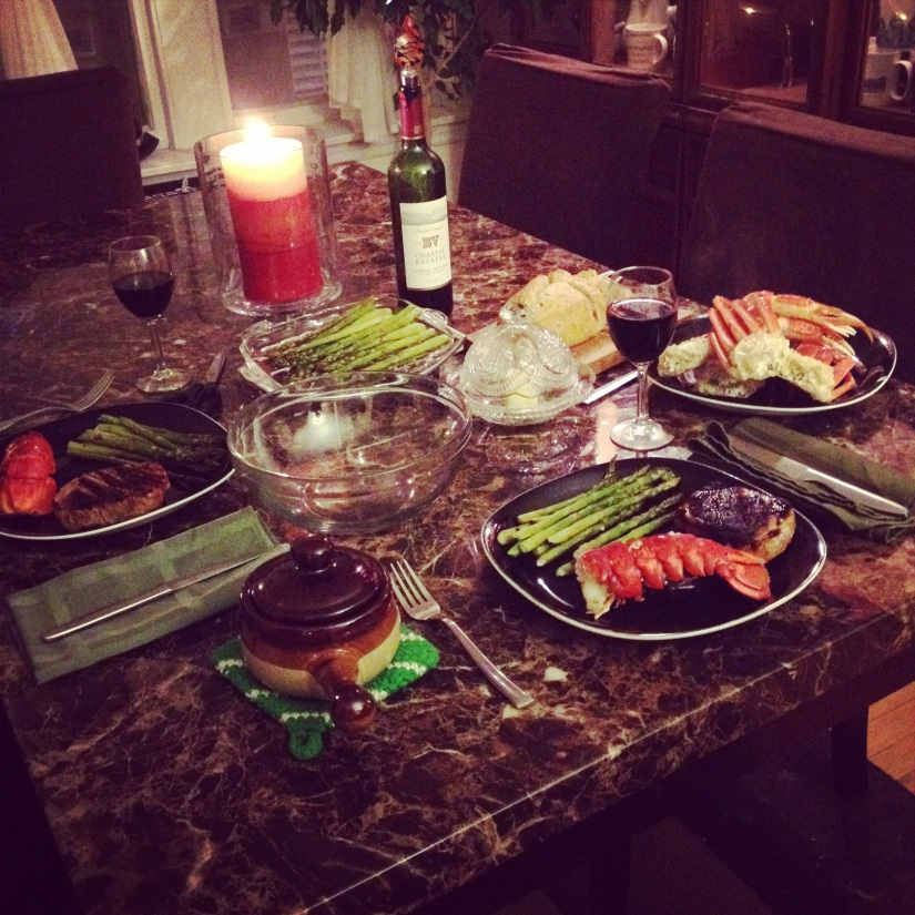 Valentine's Day Surf and Turf on theCheap