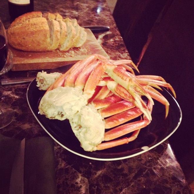 Crab + bread = winning