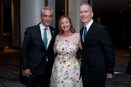 Mayor Rahm Emanuel, Lauren Robishaw, and Hubbard Street Artistic Director Glenn Edgerton.Photo by Robert F. Carl.