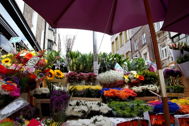 Fresh flowers sold daily on Grafton Street