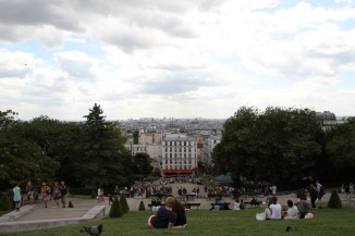Sitting atop the hill in front of Sacré Cœur