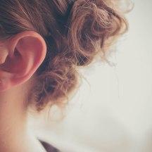 Hair: Carissa Felber. Something borrowed: Grammy's diamonds. Photo: Kelly Dwyer.
