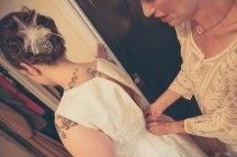 Hair: Carissa Felber. Dress: my mom. Teapot: Mandy Love. Photo: Kelly Dwyer.