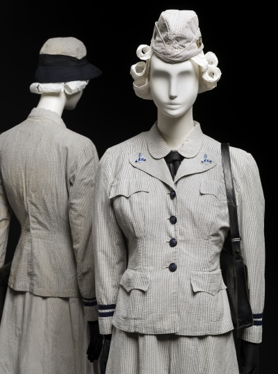WAVES uniform for summer use, United States Naval Reserve, c. 1942 | Gift of Mrs. Myron Ratcliffe; 1992.219; Gift of Mrs. Margaret Heing Ambramson, 1987.67
